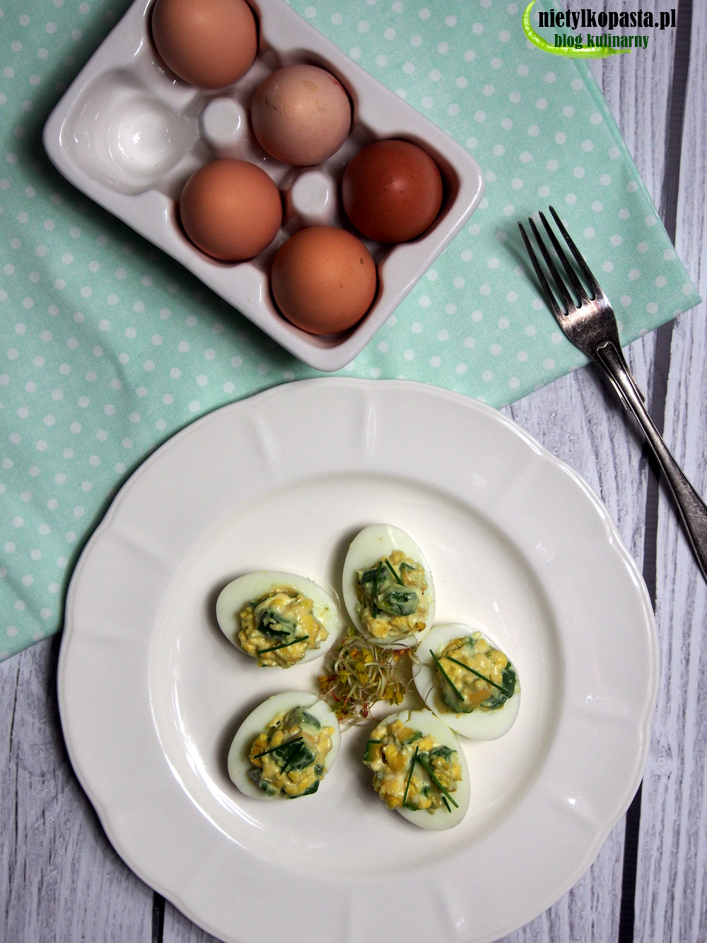 jaja faszerowane z awokado