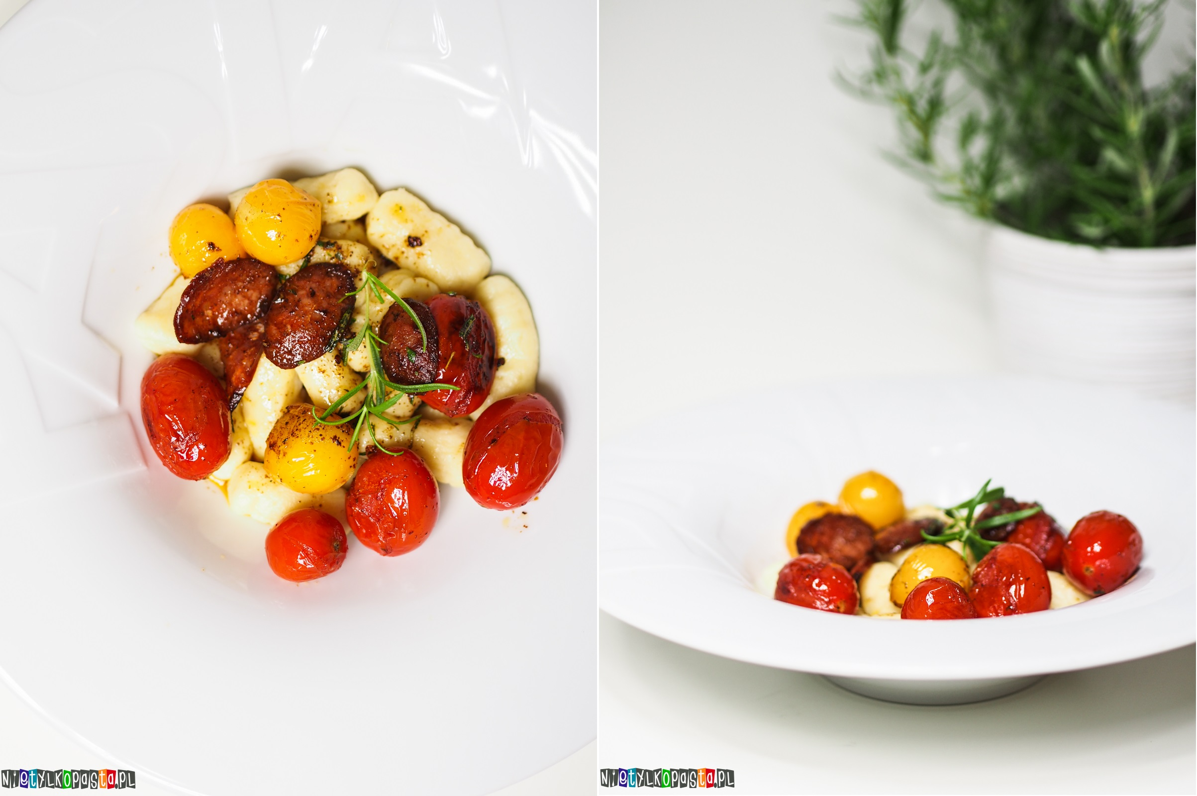 gnocchi z pomidorkami