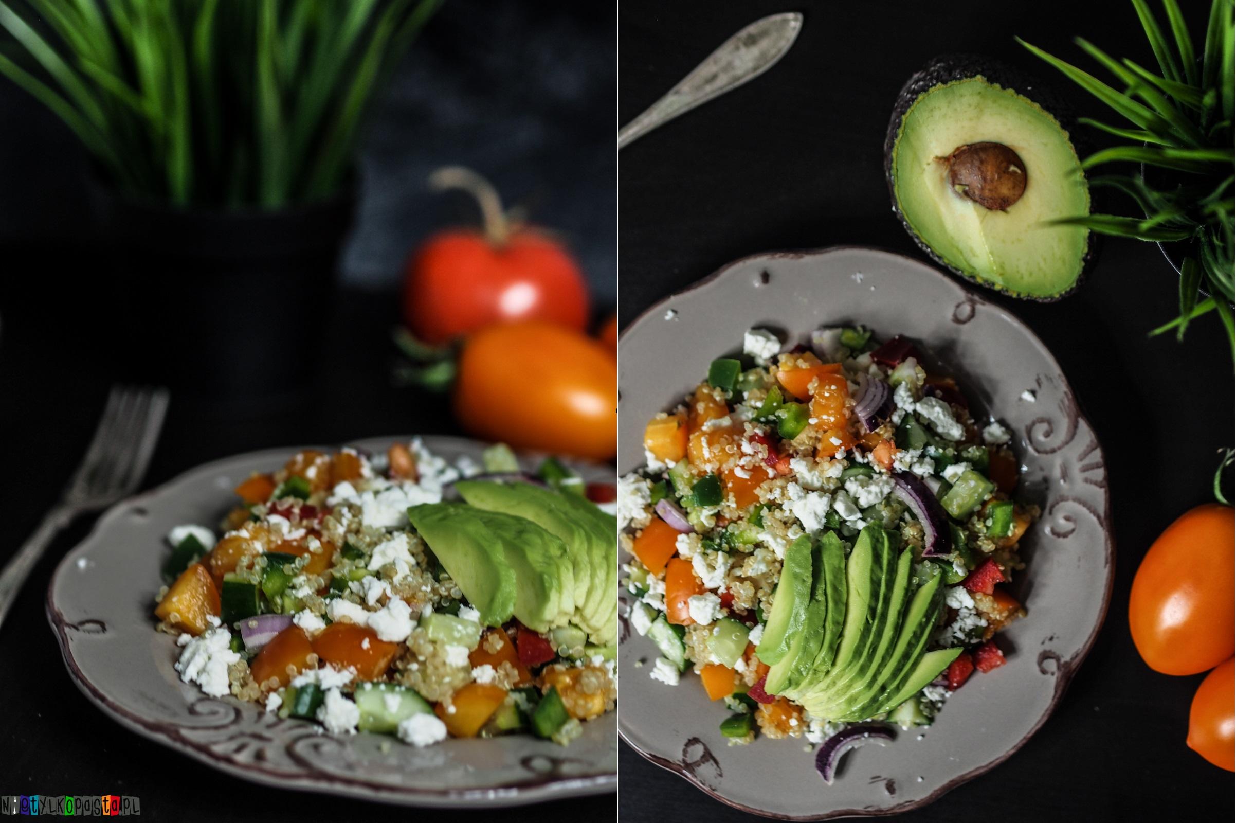 sałatka grecka z quinoa