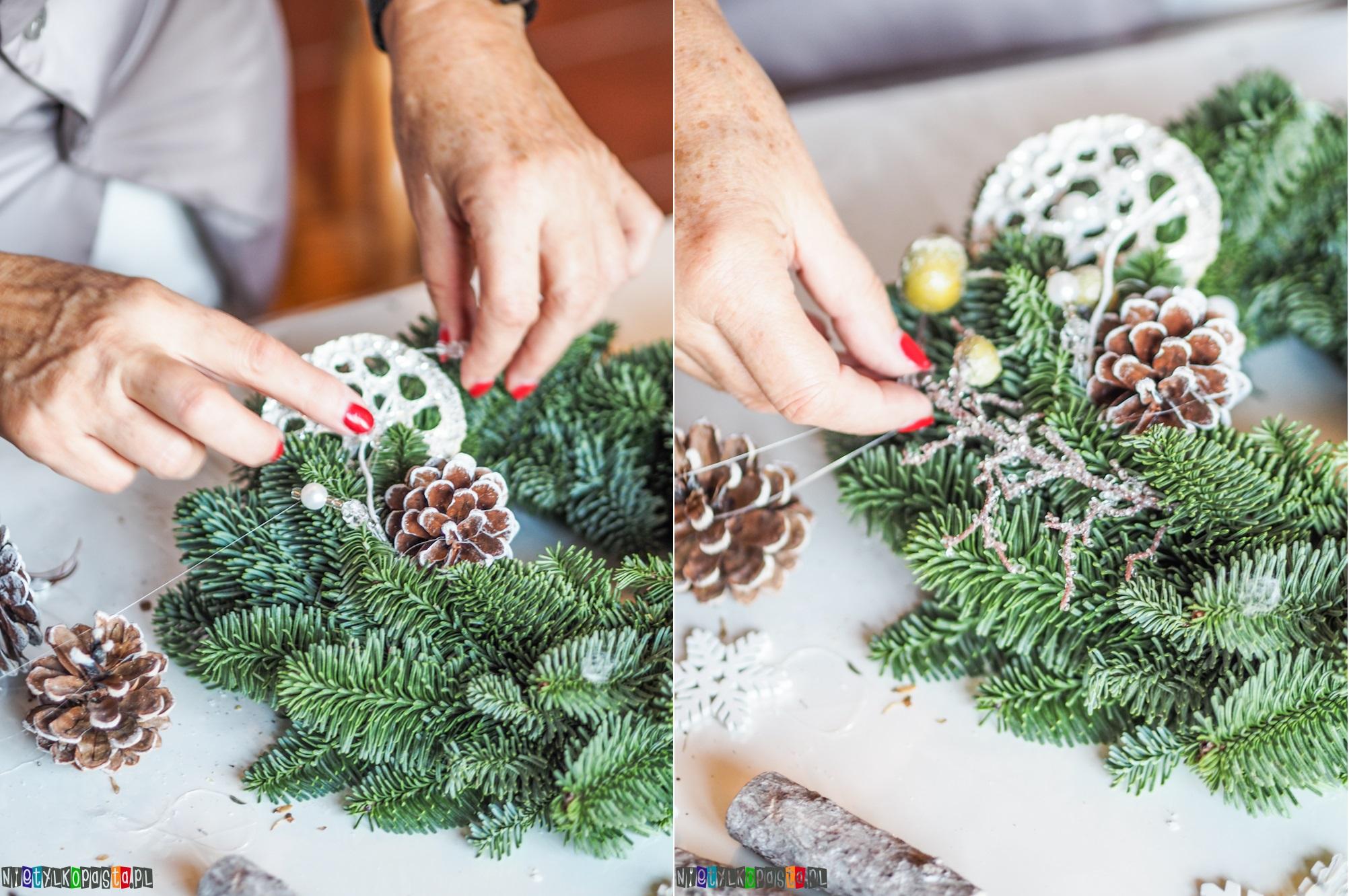 świąteczny wianek DIY