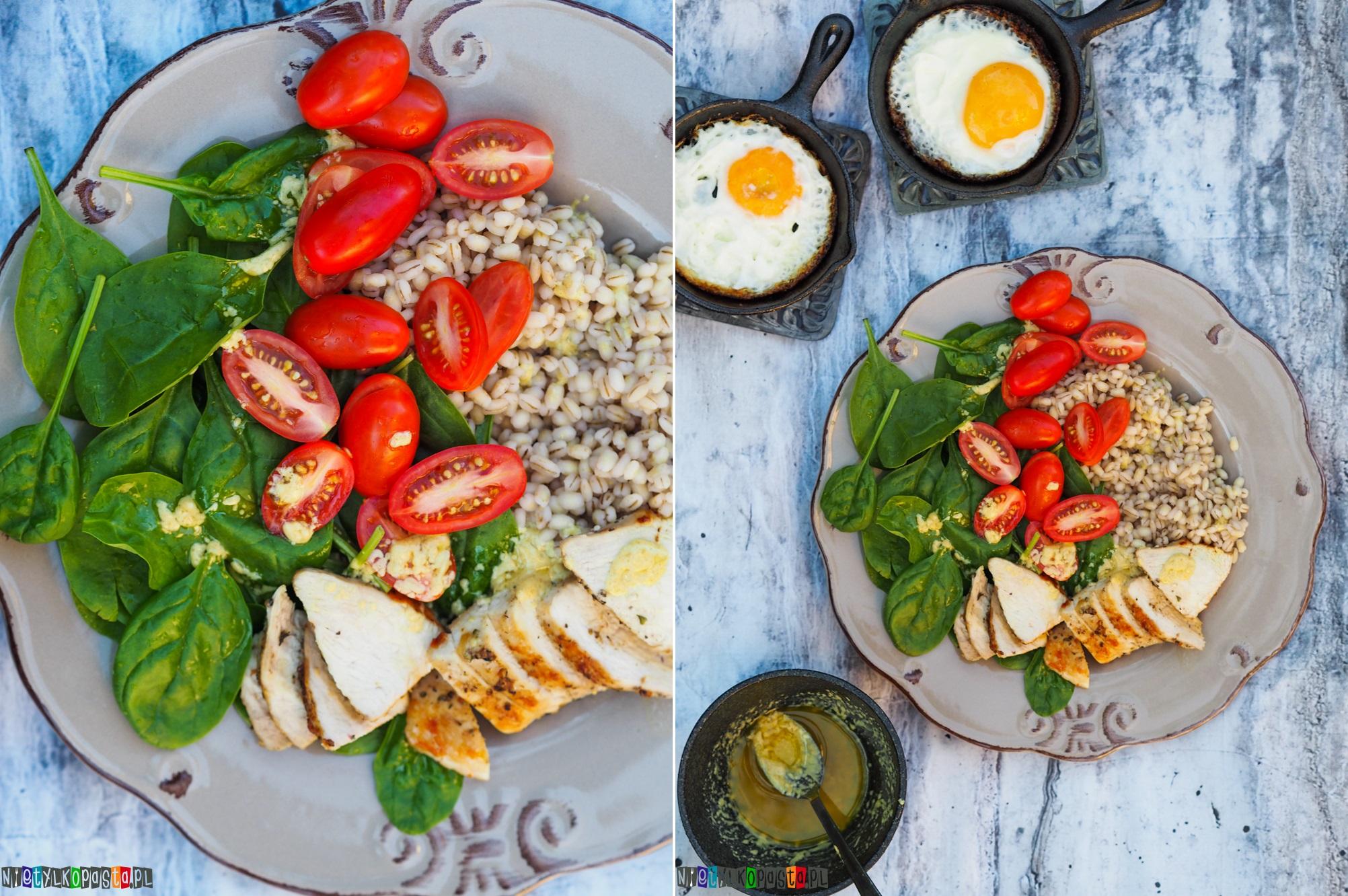 Salatka Z Kurczakiem I Kasza Peczak Pyszny Przepis