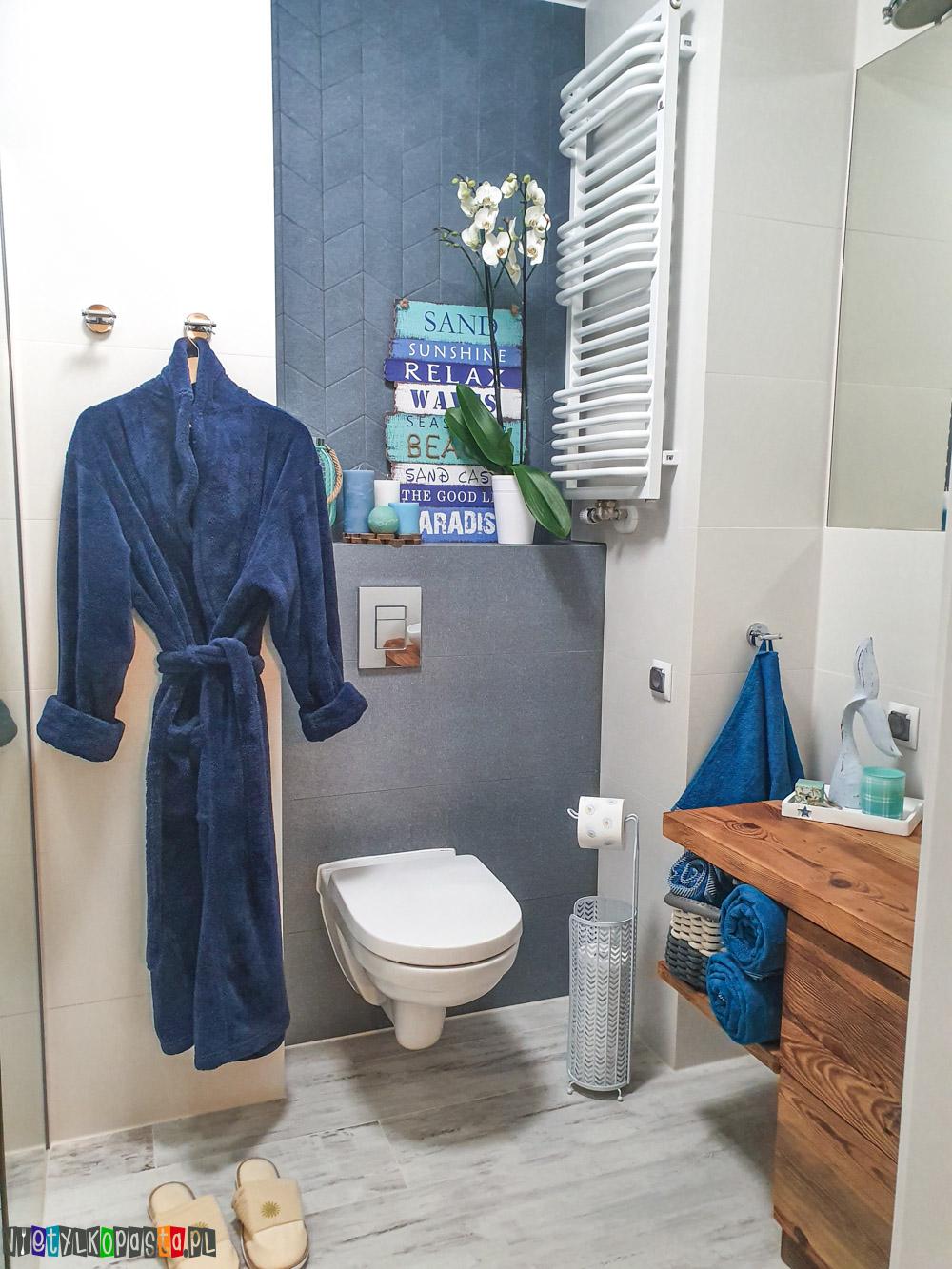 Marynistyczna łazienka - efekt finalny!